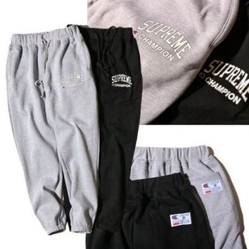 ONETOW Champion x Supreme Drawstring Fashion Print Pants Trousers Sweatpants