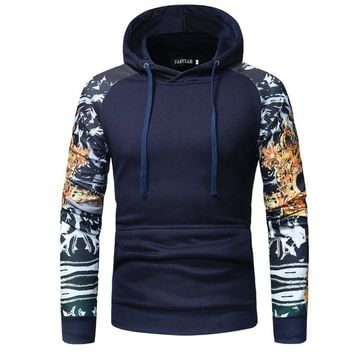 Men's Camouflage Sportswear Casual Hoodies Sweatshirts Clothing Fashion hoody Hoodie Man Print Slim Fit Pocket Sweatshirt Tops