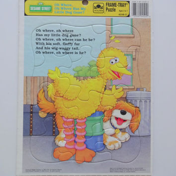 Vintage Big Bird Frame-Tray Puzzle 1993