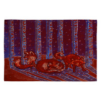 Renie Britenbucher Fox In Birch Batik Woven Rug