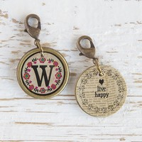 """W""  Junk  Market  Vintage  Initial  Charm  From  Natural  Life"