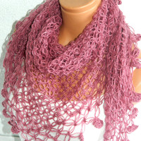 2012 trends scarf, hand knit pink scarf, women scarves. Personalized Design. Latest Fashion. scarf, neckwarmer, scarflette...