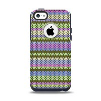 The Colorful Knit Pattern Apple iPhone 5c Otterbox Commuter Case Skin Set