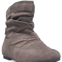 Slouchy Faux Leather Booties | Wet Seal