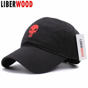 High Quality Embroidered Hero US Punisher SKULL Logo Baseball Cap Snapback Hats Outdoor Casual & Sport Cap hats