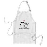 Sister Best Friend Cats Adult Apron