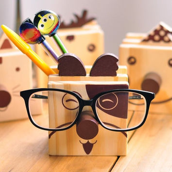 Cute Wooden Pen Holder