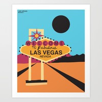 Welcome to Las Vegas Art Print by Geryes