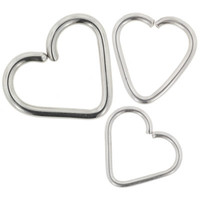LeRoi, Inc.: Stainless Steel Continuous Heart Shaped Ring