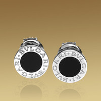 BVLGARI BVLGARI earrings in 18kt white gold with black onyx.