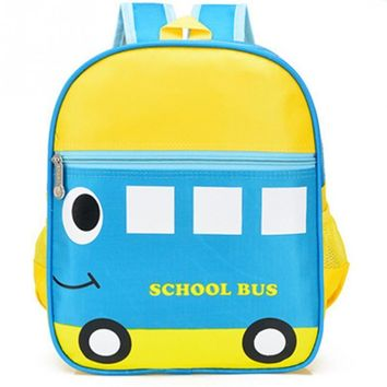 2017 new cartoon cute bus ladybird pattern school satchel backpack kindergarten satchel kids book bag children school bags
