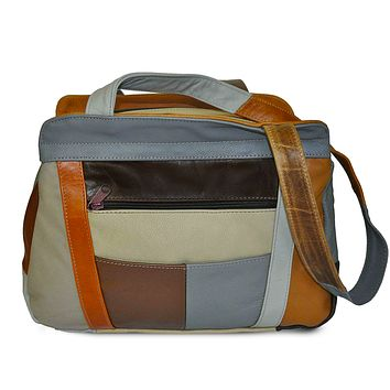 AFONiE Fine Soft Mexican Leather Shoulder Bags - Multi Color