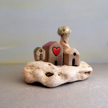 Fathers Day sale Ceramics and pottery , Sculpture , Whimsical , Desk accessories , Office desk accessories , House warming gift , Graduation