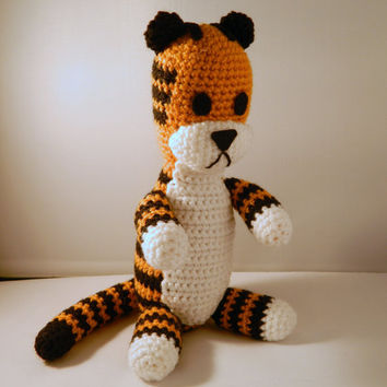 Hobbes the tiger plush doll version crochet amigurumi ( Calvin and Hobbes ) Calvin minus Hobbes