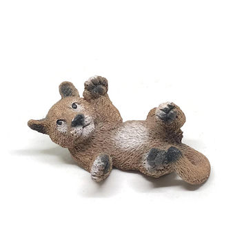 Living Stone Mountain Lion Cub Figurine