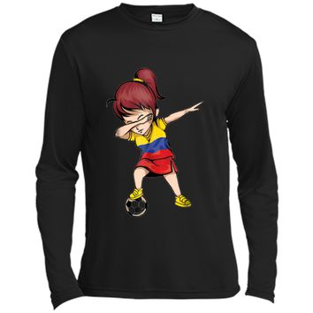 Dabbing Soccer Girl Colombia Jersey Shirt Colombian Football