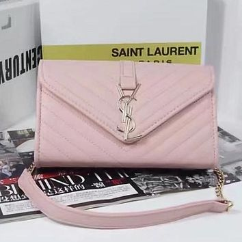 YSL Women Fashion Leather Chain Crossbody Satchel Shoulder Bag