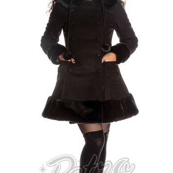 Hell Bunny Sarah Jane Coat in Black