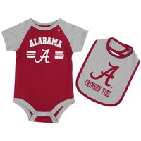Alabama Crimson Tide Infant Dribble Creeper and Bib Set - Crimson