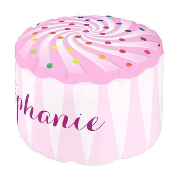 Pink Cupcake Girl's Personalized Room Decor