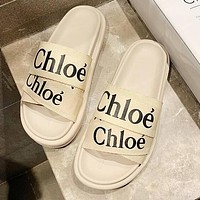 Chloe Summer Popular Women Casual Slipper Sandals Shoes Beige