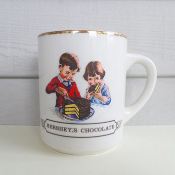Vintage Hershey's Chocolate Collectible  Mug