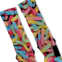 Gummy Worms Fast Shipping!! Nike Elite Socks Customized