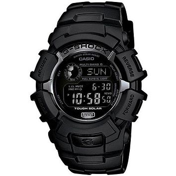 Casio Mens Solar Multi-Band Atomic Limited Edition G-Shock - Black Design