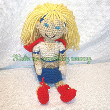Custom crochet doll. You choose the character. For boys or girls. Fantasy or fictional characters. Custom made to look like your child. Toy.