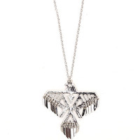 With Love From CA Freebird Necklace - Womens Jewelry - Silver - One