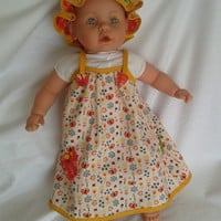 Baby's summer dress avec bonnet