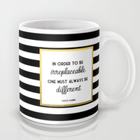 Coco Gold Irreplaceable Fashion Quote Mug by Poppy Loves To Groove