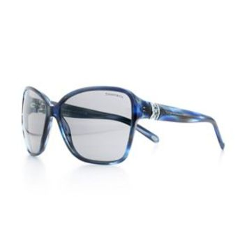 Tiffany & Co. -  Voile cat eye sunglasses in ocean blue acetate with Austrian crystals.