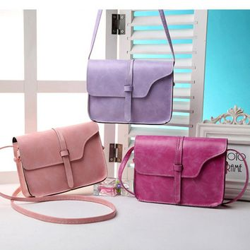 Fashion Women Handbag PU Leather Crossbody Messenger Bag Vintage Shoulder Bags Briefcase LXX9