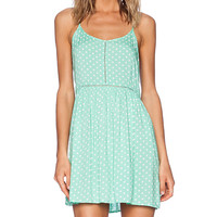 MINKPINK Polka Dress in Green