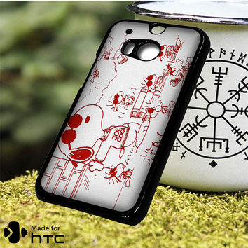 Snoopy Joe Cool Red And White HTC One M7, One M8, One M9, One M9 Plus, One M10 Case