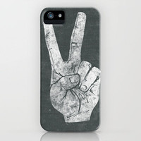 Peacefingers iPhone Case by Albert Blanchet | Society6
