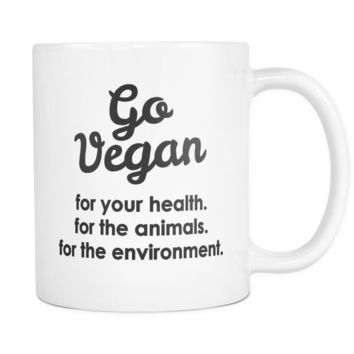 Go Vegan Mug - Gift for Vegan