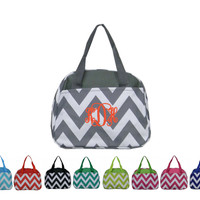 Personalized Chevron Print Lunch Bag Monogrammed Free