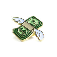 Flying Cash Lapel Pin