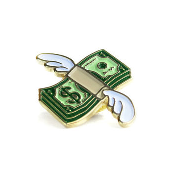 Flying Cash Pin