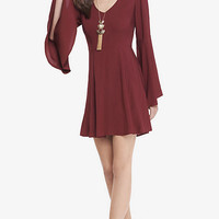 Berry Bell Sleeve Fit And Flare from EXPRESS