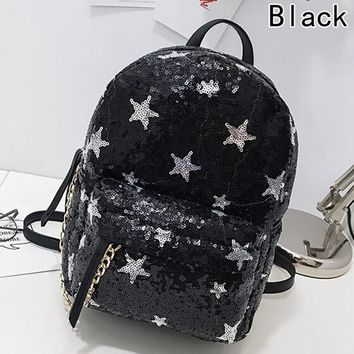 Student Backpack Children Women's Glitter Sequins Backpack New Teenage Girls Fashion Bling Rucksack Students Cute Pendant School Bag Mochilas AT_49_3