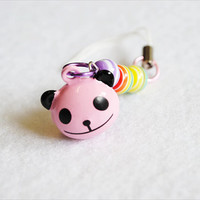 Kawaii Pink Panda Rainbow Phone Charm by CapricaAccessories
