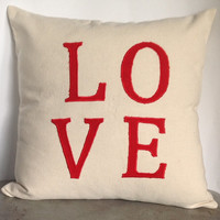 "Love Pillow -18"" x18"" ,Wedding Gift, Monogrammed Cushion Cover 45cmx45cm, Anniversary Gift"