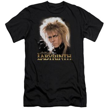 Labyrinth - Jareth Premium Canvas Adult Slim Fit 30/1 Shirt Officially Licensed T-Shirt