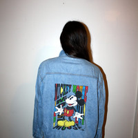 90s Mickey Mouse Denim Jacket