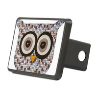 Tweed Owl Hitch Cover> Erin Brie Art