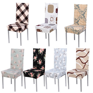 Removable Stretch Elastic Modern Minimalist Slipcovers Home Style Cotton Chair Covers Home Hotel Banquet Seat Covers FEN#