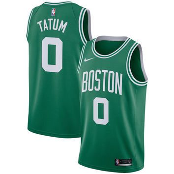 Men's Boston Celtics Jayson Tatum Nike Green Swingman Jersey Icon Edition